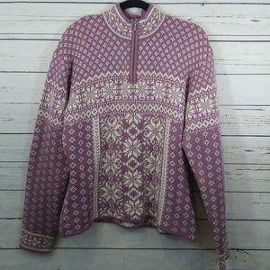 Obermeyer quarter zip sweater size XL